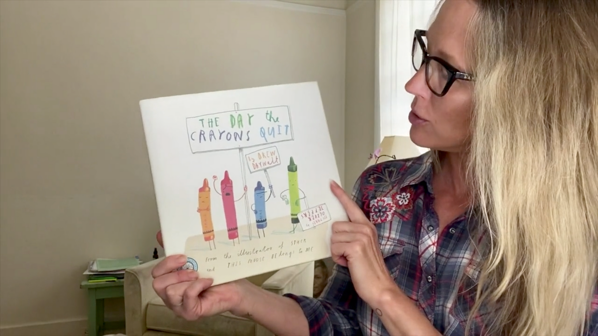 "Read Aloud, June 1: ""The Day the Crayons Quit,"" ""Not a Stick,"" and ""Silly Sally"""